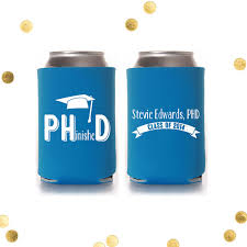 phd graduation gifts phinished phd graduation can cooler finally finished
