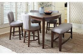 Benches For Dining Room Tables Medium Brown Mardinny Counter Height Dining Room Table View 3