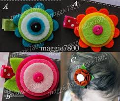 felt hair accessories 2 baby felt hair bows hair clip girl hair accessories baby felt