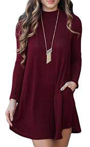 pogtmm women u0027s long sleeve knitted casual a line sweater