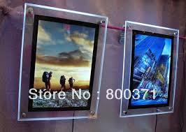 led picture frame light frame best quality 600mmx900mm crystal led movie poster light box