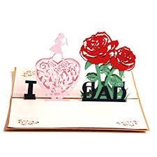 amazon com paper spiritz i love dad thank you card 3d pop up