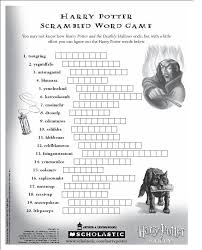 harry potter scrambled word puzzle reading writing and letter