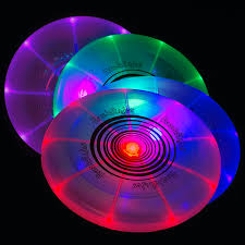 flashflight led light up flying disc