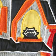 creepy haunted house tacky ugly halloween sweater the ugly