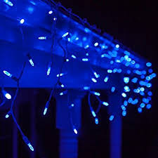 70 m5 blue led icicle lights 7 5 white wire outdoor