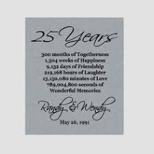 25 year anniversary gift ideas for 25 year anniversary gift 25th anniversary print personalized