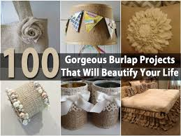 decorating with burlap interior design