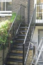 outside stairs design exterior design narrow outside metal stair design how to build