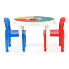 duplo table with chairs tot tutors kids plastic 2 in 1 duplo compatible round