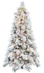7 ft white flocked tree for sale at walmart canada get