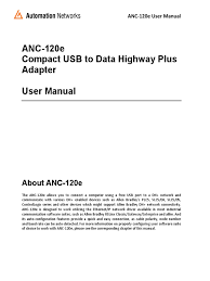 anc 120e rslinx usb to dh user manual revm3a2 ip address