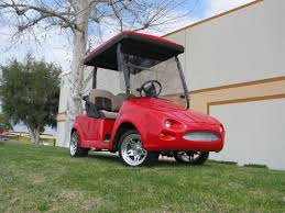 club car jaguar front body kit on the club car precedent golf car custom