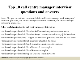 Resume For Call Centre Job by Top 10 Call Centre Manager Interview Questions And Answers 1 638 Jpg Cb U003d1428980052