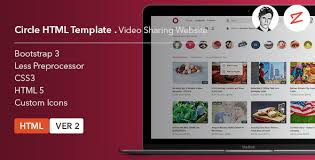 templates for video website circle video sharing website html template by azyrusmax themeforest