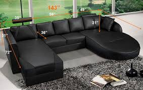 Cheap Black Leather Sectional Sofas Ultra Modern Black Italian Leather Sectional Sofa Cp 2211 Bk