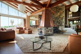 rare midcentury country house with striking copper fireplace asks
