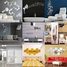 mirror decals home decor new 3d diy removable home room wall mirror sticker art vinyl mural