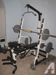 Squat Bench Rack For Sale Olympic Weight Bench Squat Rack W Weights For Sale In Plano