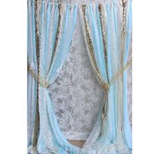 Target Turquoise Curtains by Curtain Creates A Glittering Atmosphere For Your Bathroom With