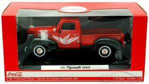 1941 plymouth truck 438068 1 24 scale motor city coca cola
