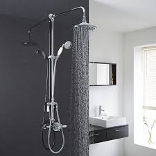 exposed dual control thermostatic shower faucet valve with grand