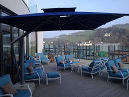 Black And White Striped Patio Umbrella by Outdoor Commercial Cantilever Parasol Commercial Outdoor Dining