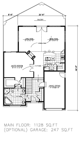 contemporary style house plan 3 beds 2 00 baths 2256 sq ft plan