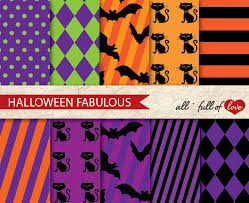 scrapbook halloween background digital paper halloween scrapbook patterns black orange background
