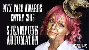 steunk automaton nyx face awards entry 2016 makeup tutorial you