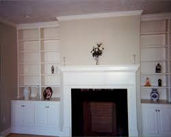 Built In Bookshelves Around Fireplace by Picture Of Cabinets And Arched Bookcases Built Around A Fireplace