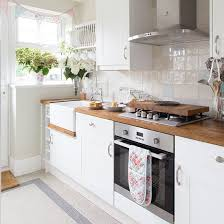 White Country Kitchen Cabinets White Country Style Kitchen With Oak Worktop Kitchen Decorating