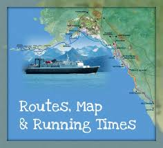 Alaska Travel Port images Alaska state ferry maps routes and running times marine highway jpg