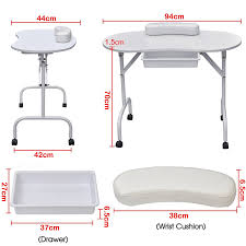 amazon com foldable u0026 portable manicure table nail technician