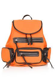 Orange Accessories Topshop Neoprene Backpack In Orange Lyst