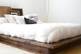 Diy Beam Platform Bed Practical Idea To Rustic Platform Bed Laluz Nyc Home Design