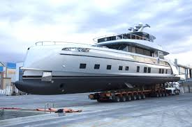 35 meters in feet behold the gtt 115 the yacht is painted with rhodium grey metallic