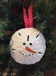 adorable large sand dollar snowman ornament