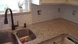 how to put up kitchen backsplash ditl installing kitchen backsplash houseofmeis youtube