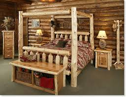 log bedroom furniture timberland canopy bed rustic furniture mall by timber creek