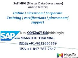 sap tutorial ppt ppt sap mdg online training in usa uk canada powerpoint