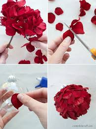diy ornaments from silk flowers