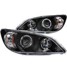 honda civic headlight anzo usa honda civic 04 05 2 3 4dr projector headlights black w
