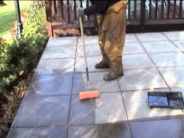 How To Clean Colored Concrete Patio Patio Sealer Application For Protection Against Frost And Staining