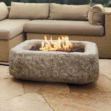 real flame antique stone square propane fire pit table hayneedle