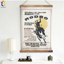 rodeo home decor vintage rodeo quotes linen painting wooden framed home decor wall