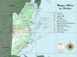 Mayan Empire Map Maps Of The Belize Mayan Sites Research View And Print