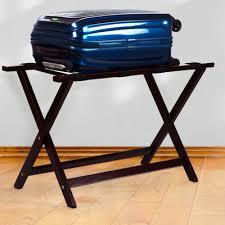 Panama Foldaway Luggage Rack Wood Casual Home Heavy Duty Extra Wide Straight Leg Luggage Rack
