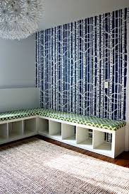 Ikea Entryway Storage How To Turn An Ikea Expedit Bookcase Into An Upholstered Storage