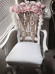 baby shower chairs baby shower chair idea flowers from walmart wood letters from